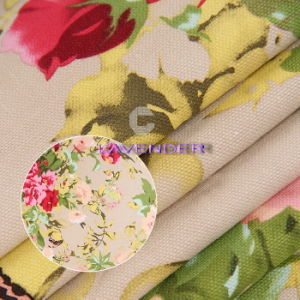 Noble Flower Patterns 250GSM Woven Fabric Canvas pictures & photos