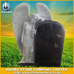 Haobo Shanxi Black Granite Monument Angel Headstone