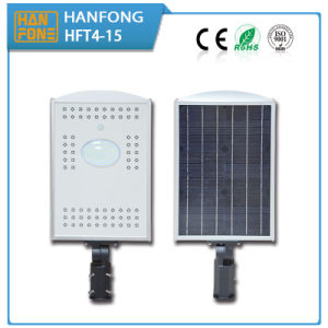 Outdoor Integrated 15W Solar LED Street Light with Ce Certification (HFT4-15) pictures & photos