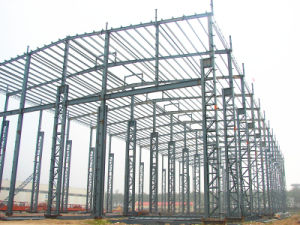 Prefab Sandwich Panel Wall Steel Structure Storage (Steel Construction Workshop) pictures & photos