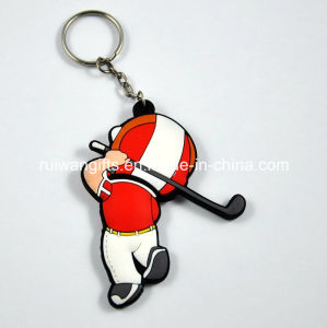 Double Sides 3D PVC Keychain with Figure Design pictures & photos