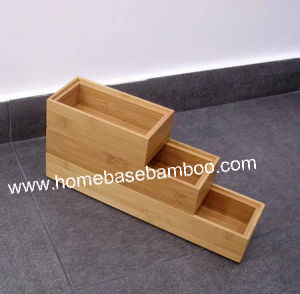 Bamboo in Drawer Storage Box Tray (Stackable Box) Hb5002 pictures & photos