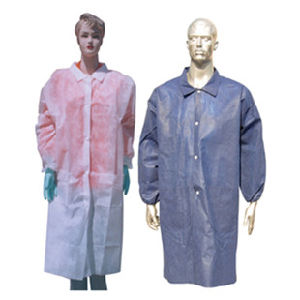 Custom Made Disposable PP Non Woven SMS Sauna Coat Ce pictures & photos