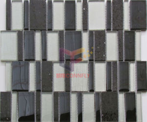 Quartz Mix Glass Irregular Shape Mosaic (CS243) pictures & photos