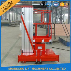Electric Telescopic Vertical Hydraulic Man Lift Equipment Light Duty 6m 100kg pictures & photos
