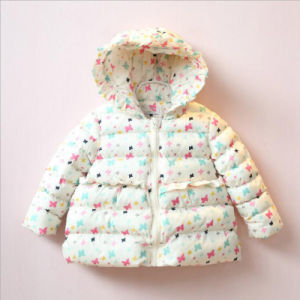 Printed Flower Girl Coat for Children Winter Clothes pictures & photos