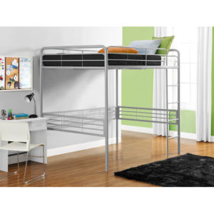Full Metal Loft Bed with Built-in Ladder pictures & photos
