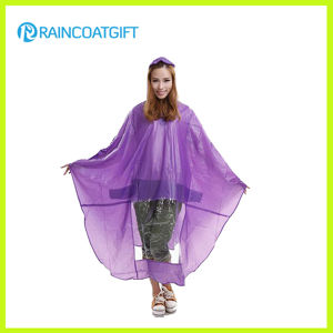 Clear PVC Rain Poncho for Bicycle pictures & photos