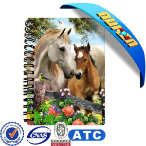 High Quality Personalized Spiral Notebooks with 3D Cover pictures & photos