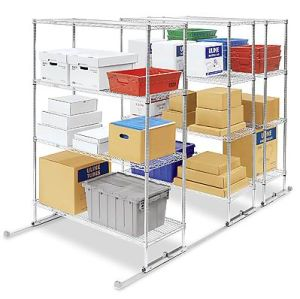 Mobile Wire Shelving with Track pictures & photos