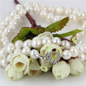 11-12mm Big Size White Knotted Unique Pearl Necklace Jewelry Wholesale pictures & photos