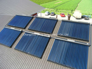 Heat Pipe Solar Collector Heater Project for Hot Water pictures & photos