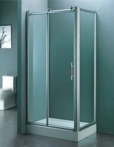 Bathroom Sanitary Ware Tempered Glass Simple Shower Room (H007) pictures & photos