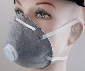Non-Woven Disposable Mask with Exhalation Valve with Activated Carbon pictures & photos