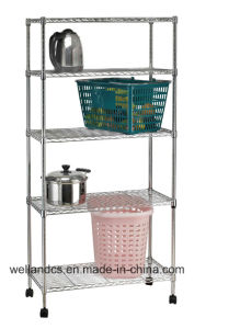 Light Duty Chrome Metal Wire Kitchen Shelf Rack with NSF Approval pictures & photos