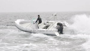 Liya 22 Ft Rib Boat China Inflatable Boat with Outboard Motor pictures & photos