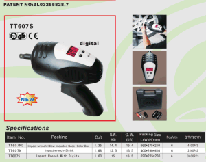 12V Impact Wrench with Digital Display & Torque Configuration pictures & photos