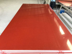 China Wholesale Red Color Quartz Slab pictures & photos