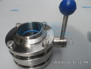 Sanitary Stainless Steel Three-Pieces Butterfly Valve (ACE-DF-2F) pictures & photos