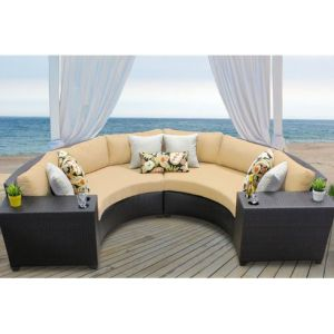 Well Furnir Rattan 4 Piece Sectional Seating Group with Cushion pictures & photos