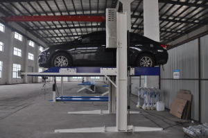 Double Cylinder Home Garage Hydraulic Two Post Car Parking Lift pictures & photos