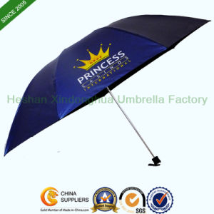 21 Inch Slim Three Fold Umbrella with Customized Logo (FU-3721NB) pictures & photos
