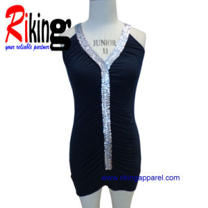 Fashion Ladies Garment Sequins Dress (RKD1379)