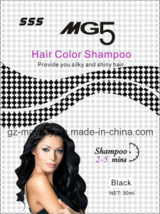 Mg 5 Hair Color Shampoo (Black) 30ml pictures & photos