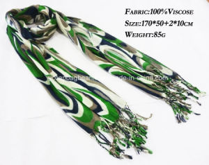 Fashionable Landscape Silk Viscose Scarves pictures & photos