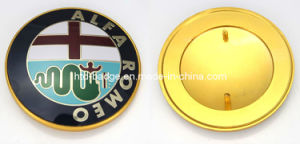 Alfa Romeo Aluminium Car Badge in Gold Finish (BD021)
