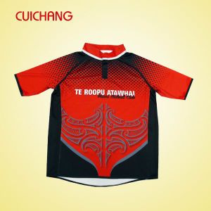 Wholesale Polyester/Spandex Heat Transfer Printing Custom Design Rugby Jersey (GLQY-070) pictures & photos