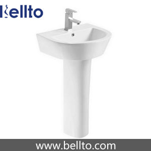 Toilet Suite Ceramic Pedestal Sink for Bathroom (615) pictures & photos