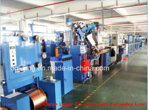 Manufacturing Equipment Three Layers Physical Foaming Extrusion Line pictures & photos