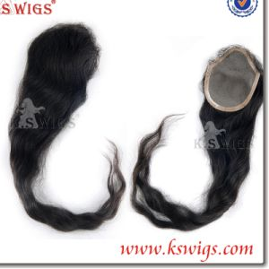 5A Grade Brazilian Human Hair Lace Closure Hair Extension pictures & photos