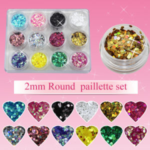 ND-42 Round Sequin Circle Hologram Nail Art Spangles