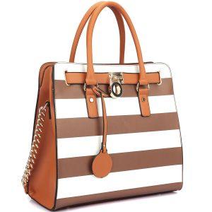 High Quality Designer Stripe Printing Women Ladies Bag (FS0623-01) pictures & photos