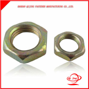 Carbon Steel Brass Hex Thin Nut pictures & photos