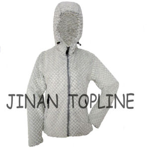 Women Fashion Long Sleeve Faux Fur Fake Fur Hoody Jacket pictures & photos