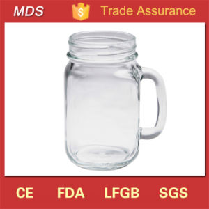 High Quality 14oz Transparent Drinking Glass Mason Jars Bulk pictures & photos