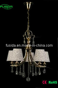 European-Style Cloth Lighting with Crystal (D-8160) pictures & photos
