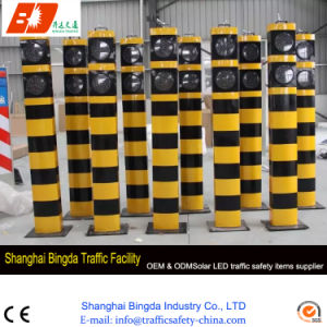 LED Warning Post, High Brightness Warning Bollards, Flexible Solar Road Bollards pictures & photos