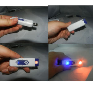 New Fashion Colorful Cigarette Smoking USB Electronic Recharge Lighter pictures & photos
