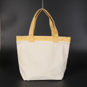 High Quality Fashionable Long Handle Easy Carrying Cotton Shopping Bags