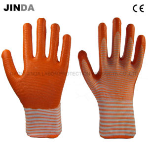 Safety Products Nitrile Coated Zebra-Stripe Work Gloves (U202) pictures & photos