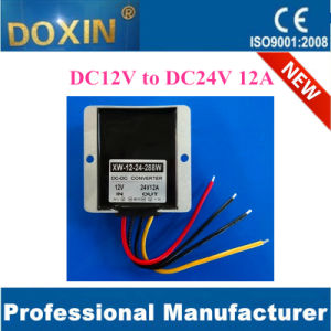 12V to 24V 12A Max 288wmax Waterproof for Electric Car Converter pictures & photos