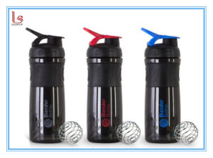 Plastic Shaker Bottle for Mixing Nutrition Powder Black pictures & photos