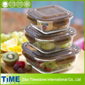 Stackable Glass Lunch Box for Refrigerator and Serving (15040101) pictures & photos