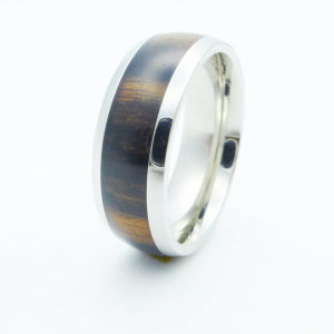 Hot Selling Red Wood Inlay Jewelry Ring