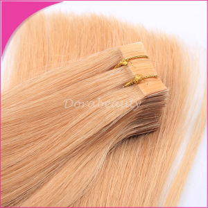 Chinese Remy Human Hair Blond Tape Weft Extensions pictures & photos