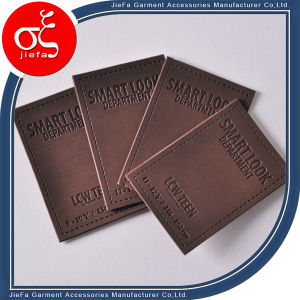 Embossed Leather Patches/Clothing Brands Patch Leather pictures & photos